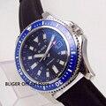 Мужские наручные часы с синим стерильным циферблатом bluger  44 мм