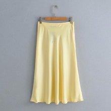 Новинка весны и лета года, женская одежда оптом, атласная текстура, длинные юбки. 565-9025