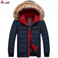 UNCO & BOROR Kış Erkekler Ceket 2017 Marka Casual Sıcaklık dış giyim Erkek Ceket Ve Mont Kalın Parka Erkek palto boyutu M ~ 3XL
