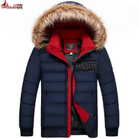UNCO&BOROR Winter Men Jacket 2017 Brand Casual Warmth outwear Mens Jackets And Coats Thick Parka Men overcoat size M~3XL