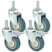 Heavy Duty 75 milímetros Roda Giratória com Freio Do Trole rodas Rodízios para Móveis  Conjunto de 4|Rodízios| |  -