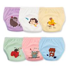 1Pcs Fashion Baby Potty Training Pants Reusable Nappies Cloth Diaper Washable Elastic Infants Children Cotton Panties Underpants