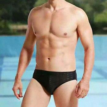 Новинка 2020, мужские плавки, черные треугольные мужские плавки, водонепроницаемые быстросохнущие спортивные плавки, горячая Распродажа, муж...