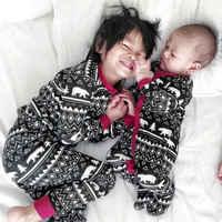 Pelele Floral de manga larga para niño y niña, ropa de dormir de algodón, pijamas, estilo de Navidad, nuevo
