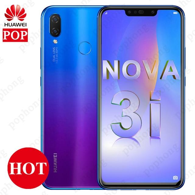Global Firmware Huawei nova 3i nova3i Mobile Phone 4G/6G RAM 64G/128G ROM 6.3 inch Kirin710 Octa Core Android 8.1 Smartphone
