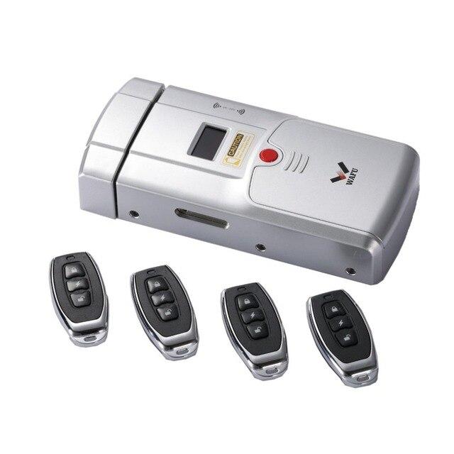 WAFU Smart Lock Controller Bluetooth Enabled Fingerprint and Touchscreen Keyless Smart Lock Deadbolt with Built-In Alarm New hot