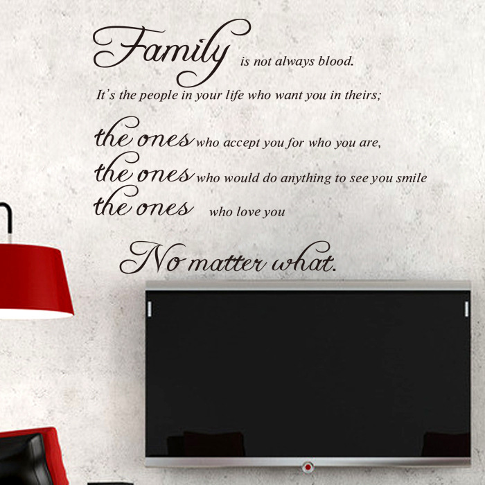 8207 The New Amazon Selling English Fanily Living Room Wall Stickers Can Be Customized Wholesale Removal