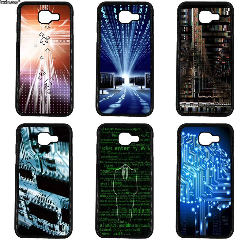 Electronic Technology Era Phone Cases Hard PC Cover Fitted for Samsung Galaxy A3 A5 A7 A8 A9 2016 2017 2018 Note 8 5 4 3 2 Shell