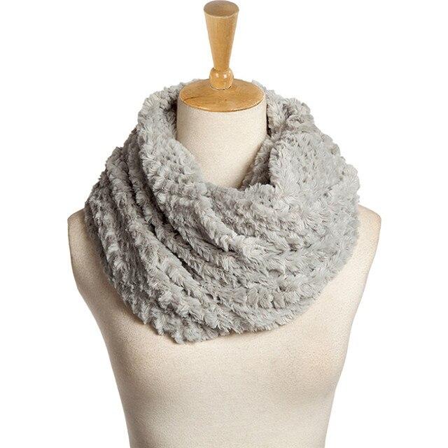 Новый трикотажные Для женщин шарф мягкий теплый флис 2 Круги уплотнительное кольцо шарфы, шали Для женщин s зимний шарф Элитный бренд воротник шею