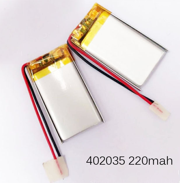 5-10PCS <font><b>402035</b></font> <font><b>3.7V</b></font> rechargeable lithium polymer <font><b>battery</b></font> 220mAh lipo li-ion cell for digital device RC helicopter car boat toys image