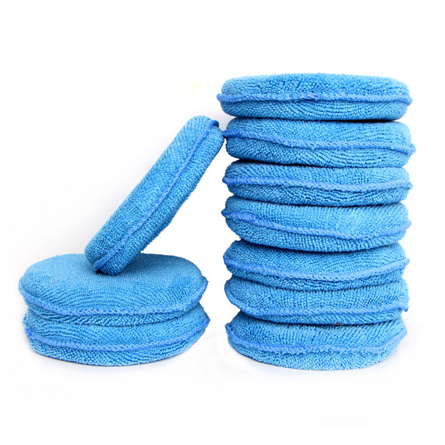 Soft Microfiber Car Wax Applicator Pad Polishing Sponge for apply and remove wax Auto Care 5pcs or 10pcs for choice