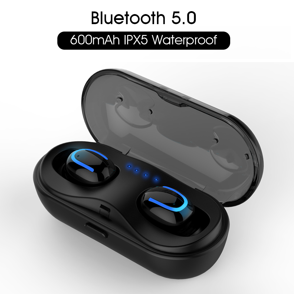SYLLABLE HBQ-Q13S Mini Earphones with Mic Wireless Bluetooth V5.0 Headset Music Earbud Noise Canceling SYLLABLE HBQ-Q13S 5 hours