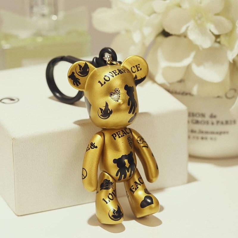 Bomgom Cartoon Popobe Gloomy Bear Momo Vinyl Plastic Keychain Key Chain Bag Ornaments Pendant Kids Toys Doll Keyring K049-e