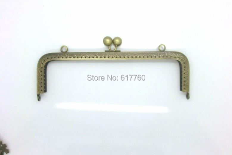 Free Shipping-1PC Antique Bronze Metal Frame Kiss Clasp For Purse Bag 20cm x 8cm(7 7/8x3 1/8),J2608