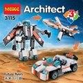 Juguetes del bebé 3115 Futuro Flyers 3 En 1 Transformable Building Block Sets Juguetes de Regalo Compatible Con Creador 31034
