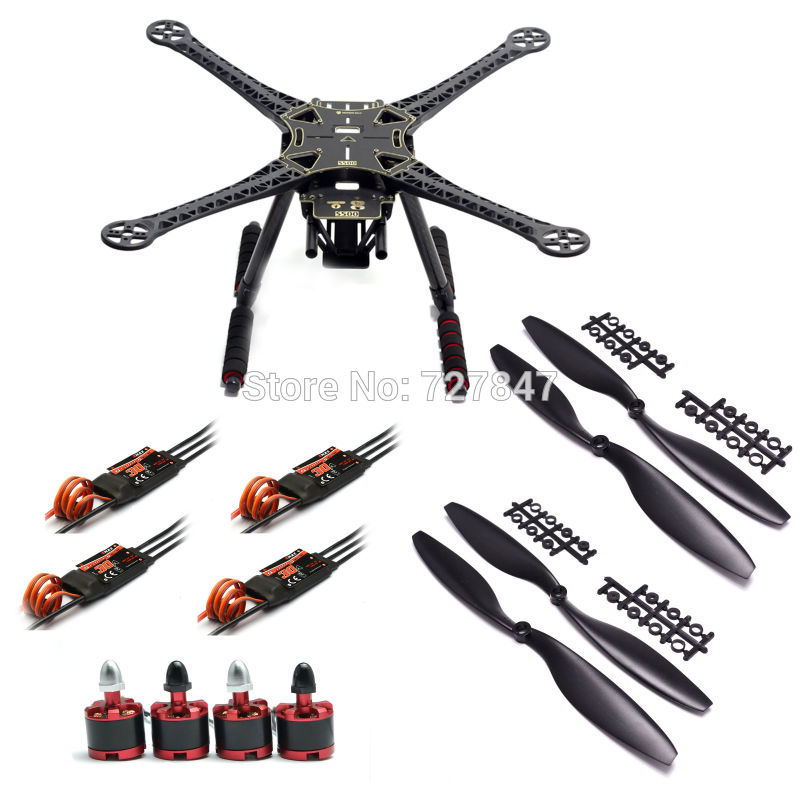 500mm S500 Quadcopter Multicopter Frame Kit 2212 920KV Brushless Motor Emax 30A Simonk/ Emax BLHeli 30A ESC 1045 propeller diy fpv mini drone qav210 zmr210 race quadcopter full carbon frame kit naze32 emax 2204ii kv2300 motor bl12a esc run with 4s