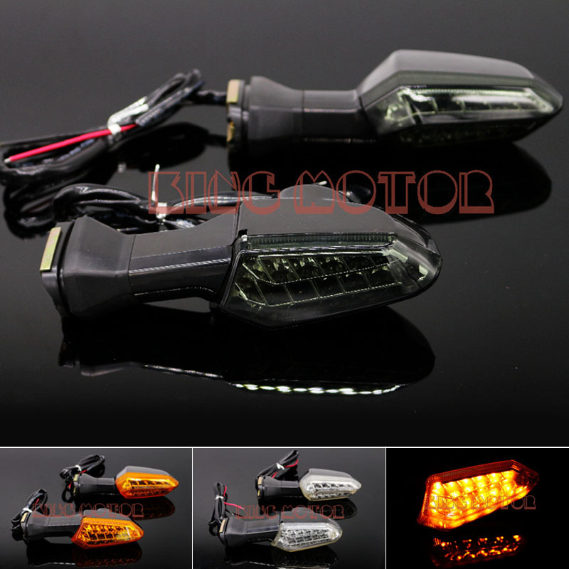 For KAWASAKI Ninja 250 Ninja 300 ZX-6R/636 Motorcycle Accessories LED Rear Turn Signal Indicator Light Smoke 12v 3 pins adjustable frequency led flasher relay motorcycle turn signal indicator motorbike fix blinker indicator p34