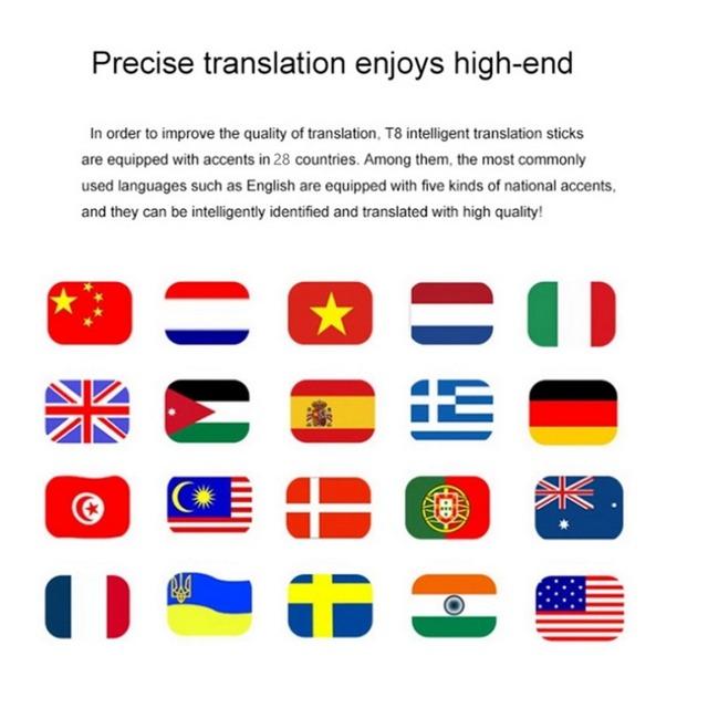 Traductor de voz inteligente portátil versión de actualización de dos vías para aprender viajes reunión de negocios 3 en 1 Traductor de idioma de voz