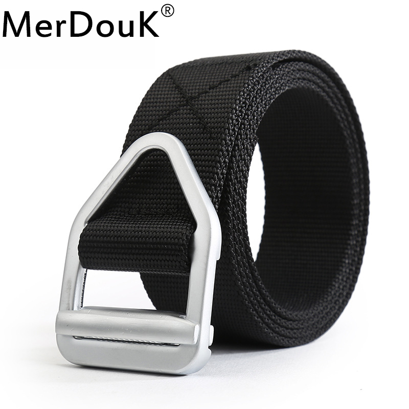 Men Army Tactical Belt Military Casual Nylon Belts Mens Waist SWAT Strap with Metal Buckle Belt