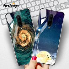 For Oneplus 7 Pro Case Tempered Glass Star Space Covers Coque On The One plus Cover Funda Bumper Capa