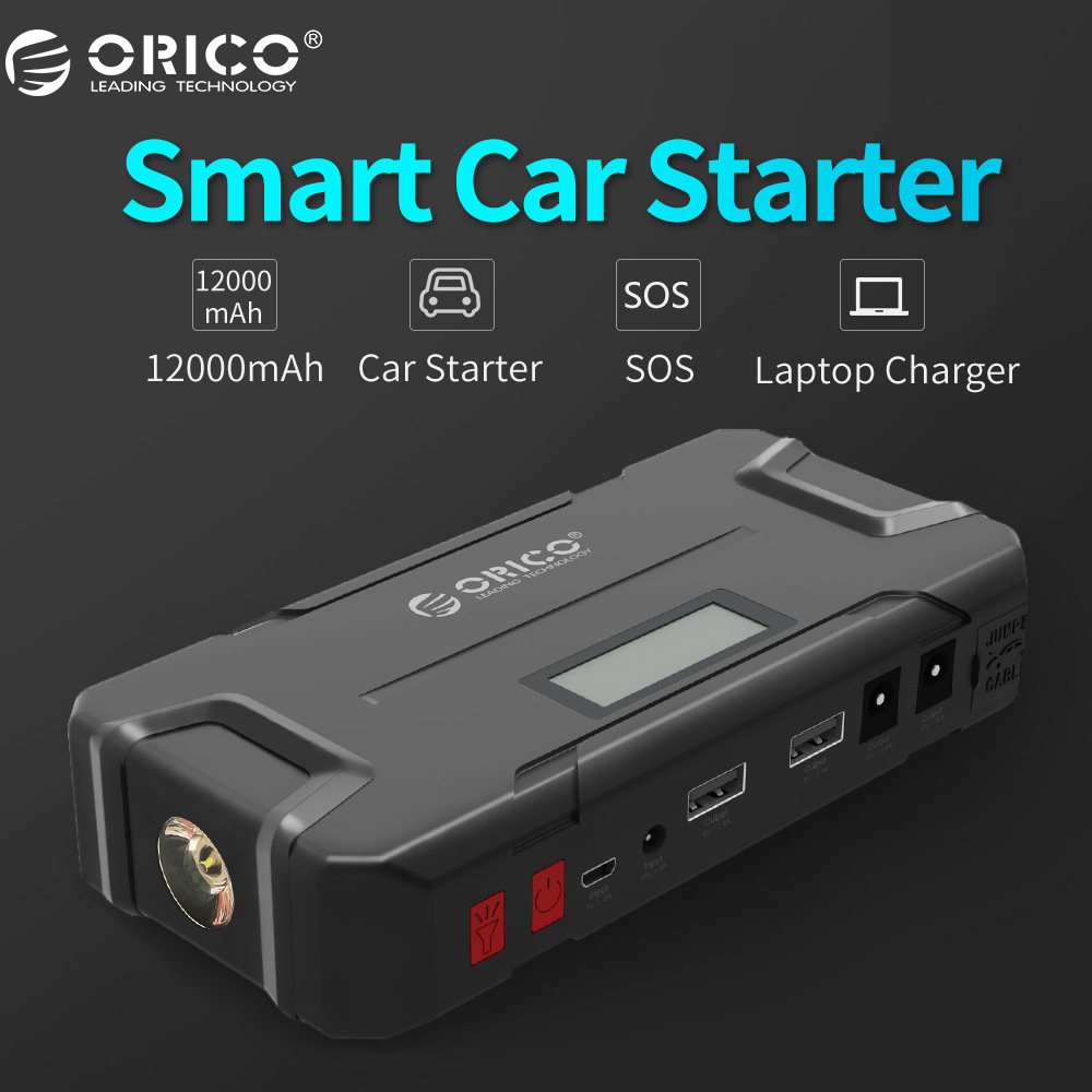 ORICO CS2 12000 mAh Mini Vehicel Power Bank Draagbare Mobiele Batterij Emergency Booster Buster Power Bank Voor Telefoon Laptop Auto