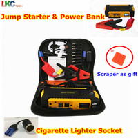 2017 New Portable Jump Starter 16000mAh Car Jump Starter 4usb Power Bank Multi Function Vehicle Emergency