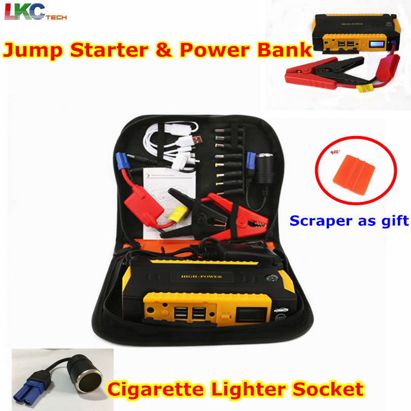 12V Multi Function Car Jump Starter 16000mAh 4USB Power Bank Emergency Battery Booster Compass SOS Lights