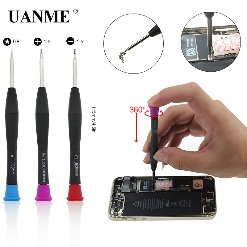 Купить с кэшбэком UANME 46 in 1 Torx Screwdriver mobile Phone Repair Tool Set Hand Tools for IPhone Mobile Phone Xiaomi Tablet PC Small Toy Kit