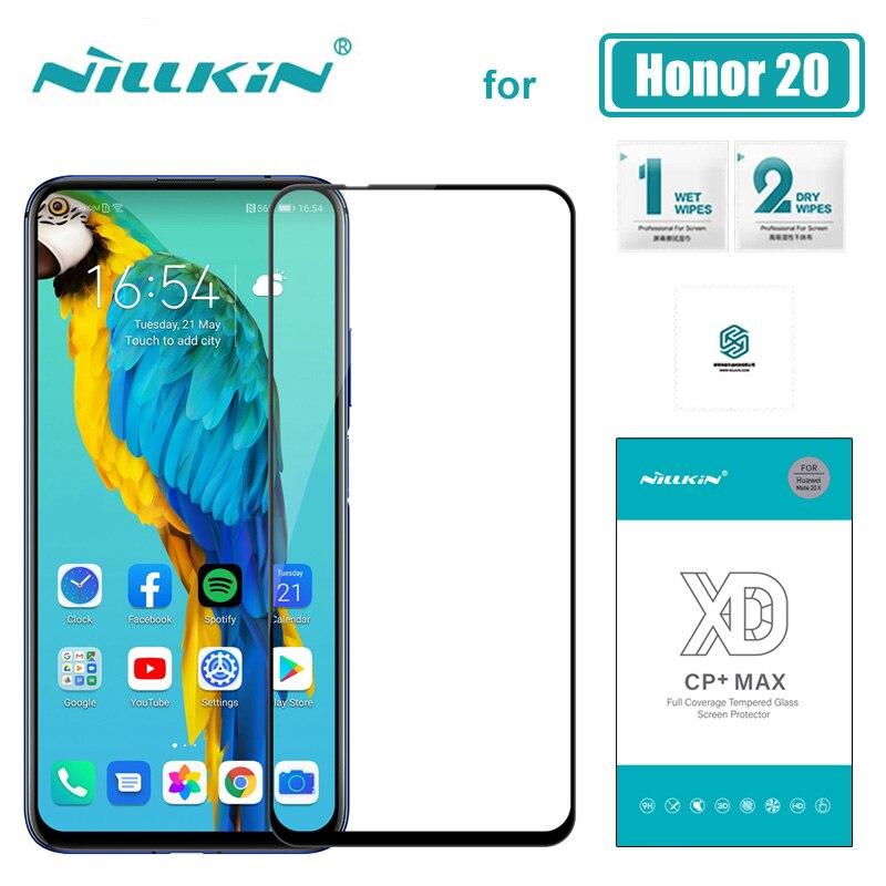 Huawei Honra 20 Pro XD CP + MAX 3D Completa Cobertura Nillkin Vidro Temperado Vidro Protetor de Tela para Huawei Honor 20 Pro Filme HD De Vidro