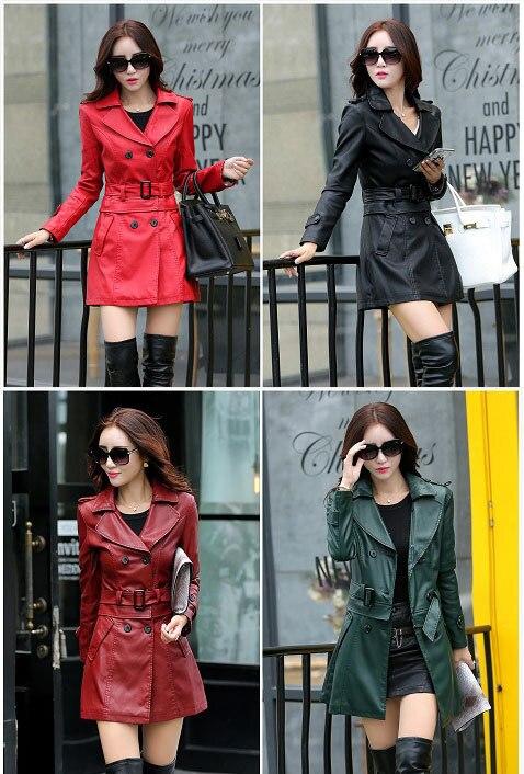 Lederjacke Frauen Top Fashion New Plus Size Schlank Dual Use Pu - Damenbekleidung - Foto 3