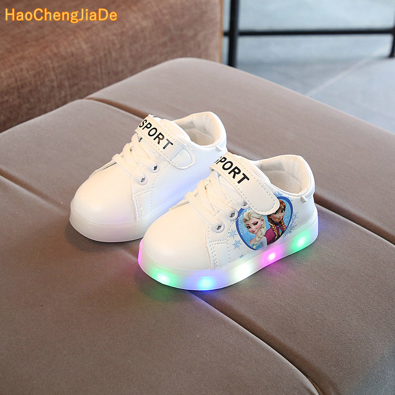 2018 spring and autumn new children's shoes for boys and girls colorful luminous shoes LED flash children's Light shoes Non-slip