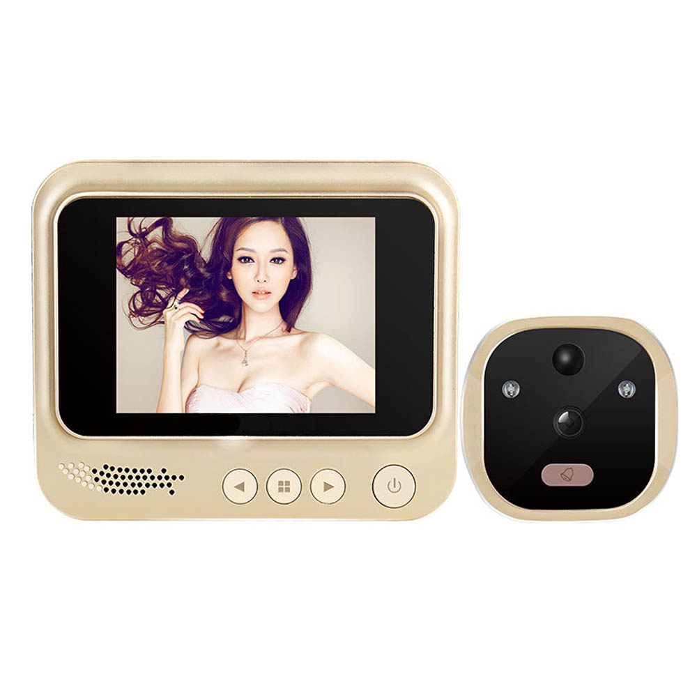 Topvico Video Peephole Door Viewer Motion Detection Electronic Digital Ring Doorbell Camera Video-eye Home Security Auto Photo