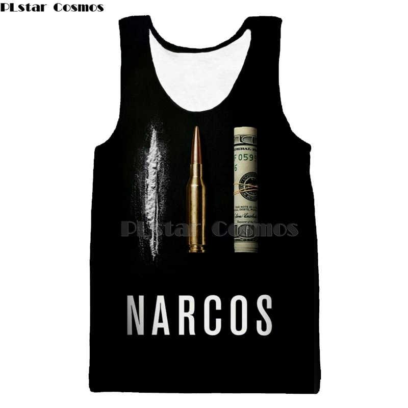 PLstar Cosmos Narcos Pablo Escobar Narcos kugel schwarz tank top weste Mafia Hip Hop Männer Hemd Harajuku Streetwear