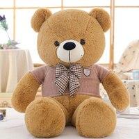 Kawaii 160 cm Áo Len Tie Gấu Lớn Teddy Bear Plush Toy Doll sang trọng Ted Phim Ted Gấu Chất Lượng Cao Cho Trẻ Em Món Quà Đồ Chơi