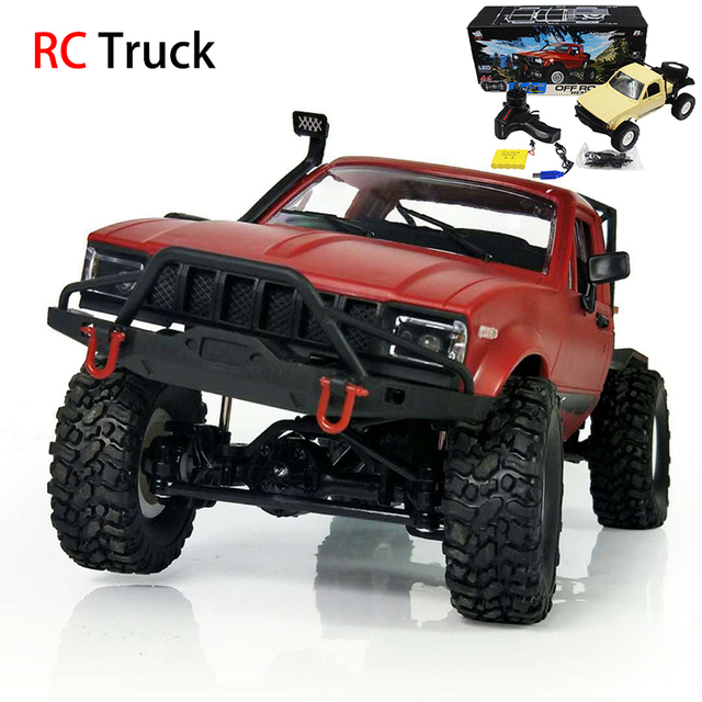 RC Truck 1:16 WPL RC Crawler Car 6WD 2.4G Mini Off-Road Remote Control Car 15km/H Top Speed Mini RC Monster Truck