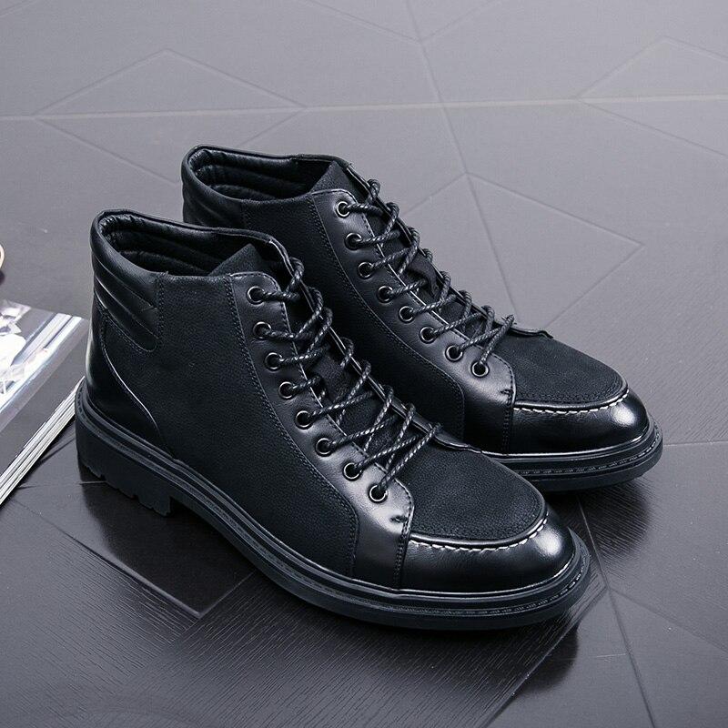 Robe Mocassins Cool Chaussures Haute marron Pour Hommes Noir Oxford Marque Unique Cuir De Bottes Top Moto Designer Luxe En Italien 6pwOx4O