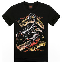 2016 3D Mighty scorpion Printed Mens T Shirts Summer Men Tshirts Short Sleeve Man T-Shirt Cotton black