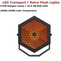Par plana LEVOU Luzes de Alta Potência de 575W Lâmpadas de Halogéneo Luzes de Flash Retro Com 36X3W RGB 3IN1 LEDS DMX 4/10 Canais Frete Grátis Efeito de Iluminação de palco     -