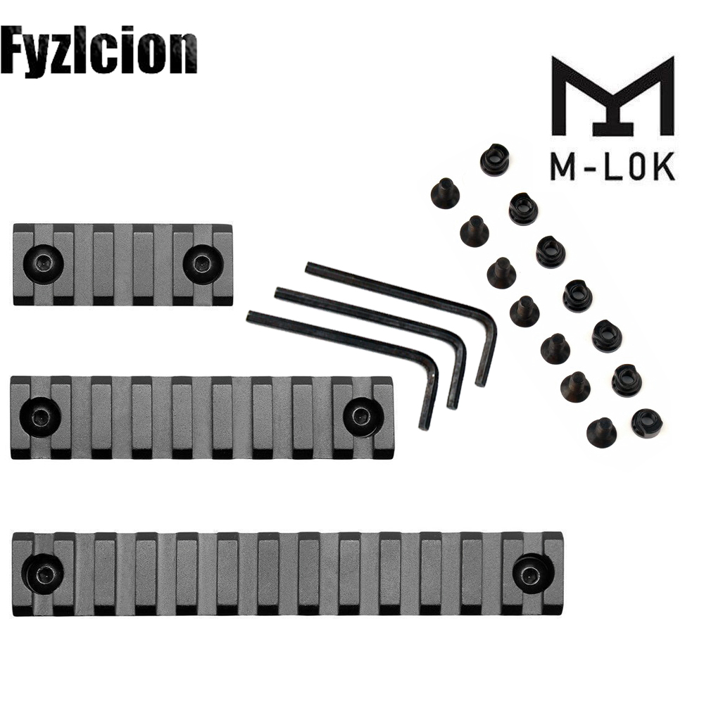 M-Lock Rail-Mount Handguard-Section Picatinny Aluminum 3-3-Sizes-Set 9/13-Slot 7-4-