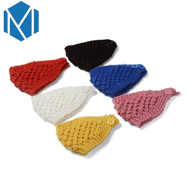 M MISM 2018 1 unid mujeres sólido turbante sólido piña Crochet ...