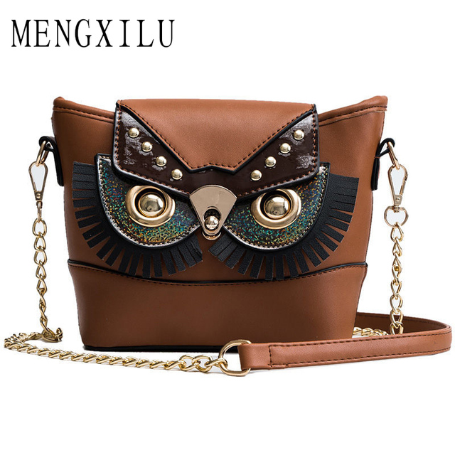 New Cute Owl Shoulder Bag Purse Handbags Chain Women Messenger Bags FOR Girls  Cartoon with Small c6bdd68c4b