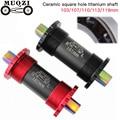 MuqziBicycle средняя ось titanium Нижние Винты-держатели для складной велосипед с фиксированной передачей MTB дорожный bike103/107/110/113/119 мм титановый стер...
