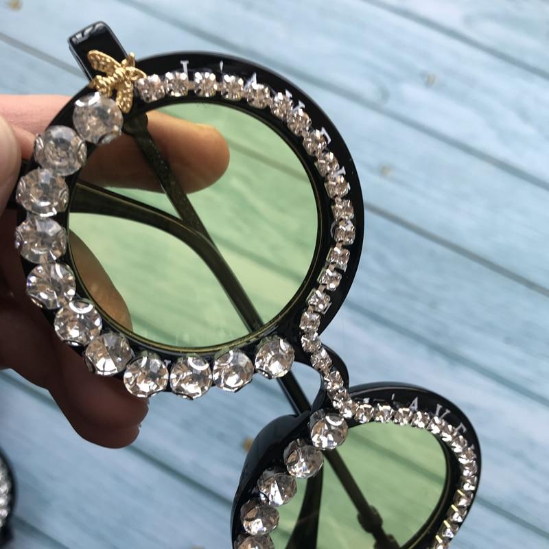 Donne 10 A 2019 Sole Da Lusso M16 Adulto Fatti Visione Notturna Mano Creativa Diamante Delle Uv400 Di Api Occhiali Nero Del 5TPqT
