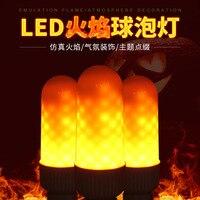 2835SMD HOLLKI 2017 Nowy E27 E26 lampa LED Efekt Płomienia Ognia Emulacji Migotanie płomienia Żarówki 3 W Światła 1300 K AC85-265V