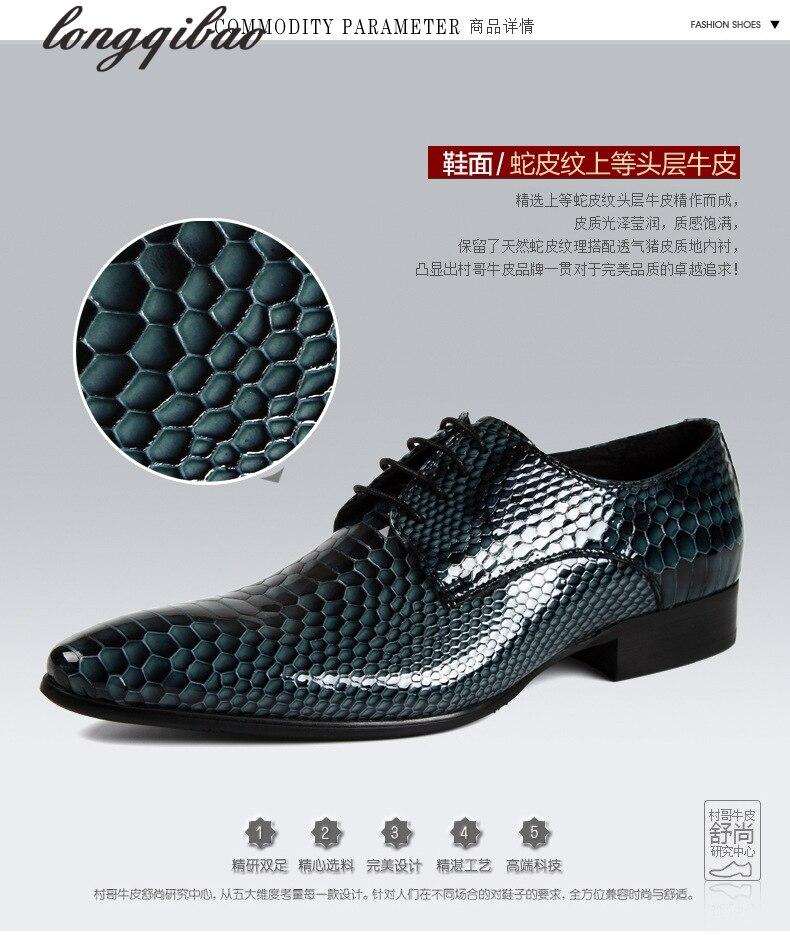 Men s 38 44 brand luxury mens dress shoes genuine leather comfortable crocodile grain designer men