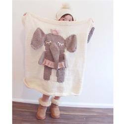Ins bobo chose europe good quality fashion baby lion sheep elephant pattern cotton knitting blanket kids.jpg 250x250