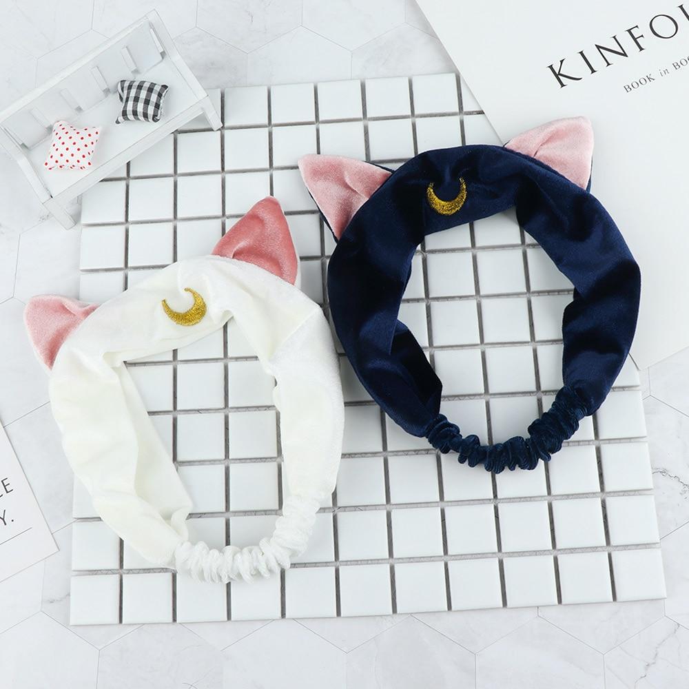 1Pc Headband Sailor Moon Hair Band Makeup and Washing Face Tools Hairband Cute Ear Hairband Girl Women Accessories(China)