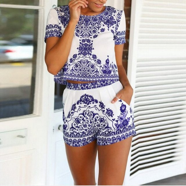 Aliexpress.com : Buy Summer Fashion Ladies Casual Floral Playsuit ...