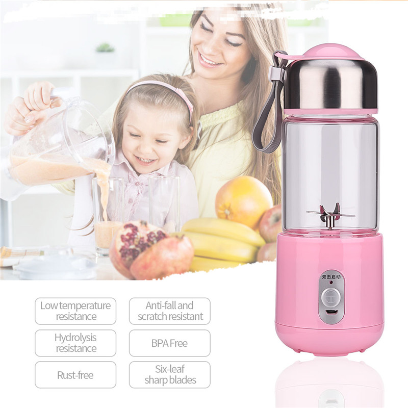цена на 260mL Portable Blender Juicer Rechargeable Electric Automatic Fruit Citrus Orange Vegetable Juice Extractor Milkshake Mixer