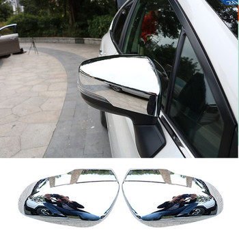 Exterior Accessories Side Door Rear View Mirror Cover Cap Trim 2pcs ABS Chrome For Subaru Forester 2019